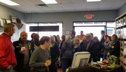 Large crowd in the Alamogordo store