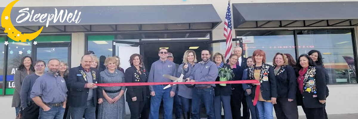 Ribbon Cutting Picture of Sleep Well