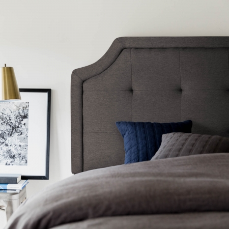 Charcoal Scooped Headboard