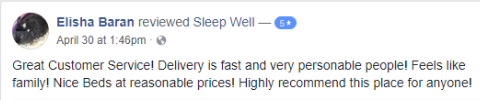 Review for Sleep Well Baran