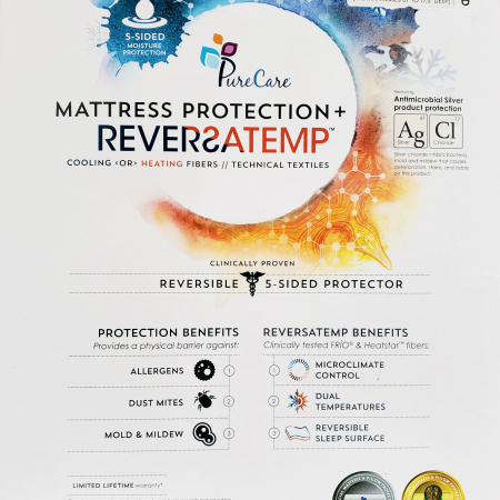 Reversatemp Cooling and Heating Mattress Protector available at Live Well