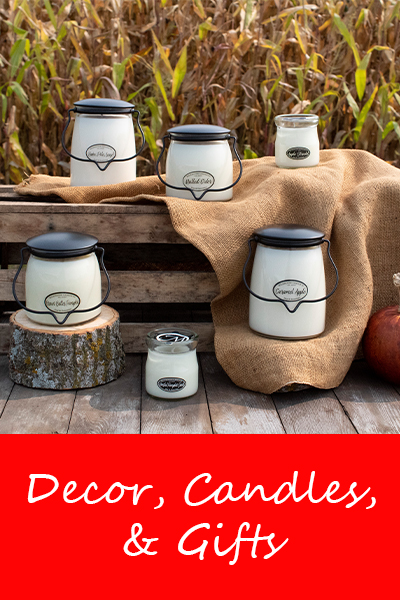 Decor Candles and Gifts available at Live Well Mattress and Furnishings