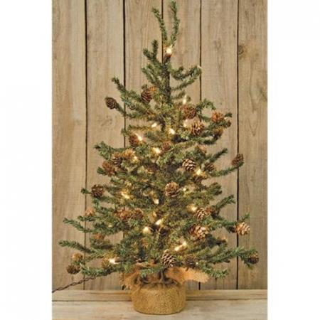 "24"" prelit Christmas tree"