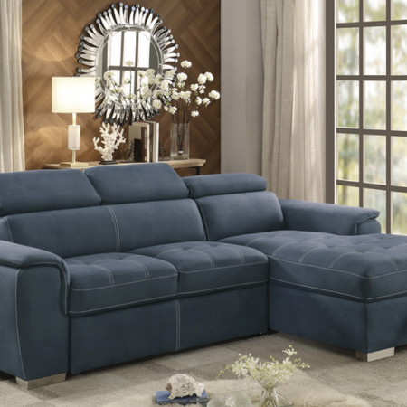 Ferriday Navy Sectional with Storage