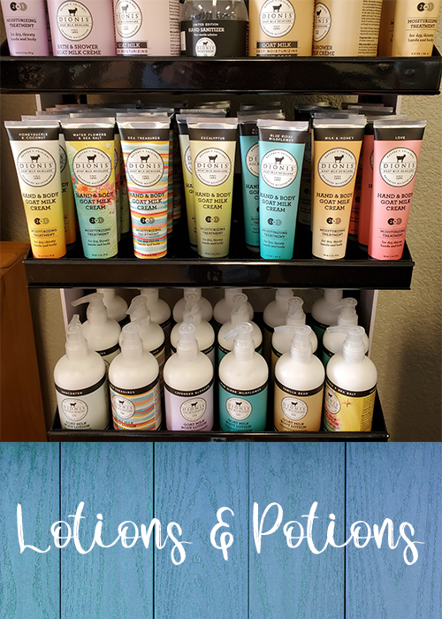 Lotions and Potions Button